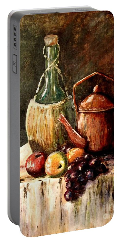 Still Life Portable Battery Charger featuring the painting Still Life by Marilyn Smith