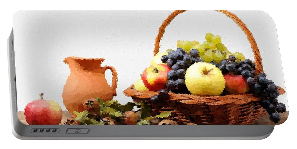 Still Life Portable Battery Charger featuring the painting Still Life by Samuel Majcen