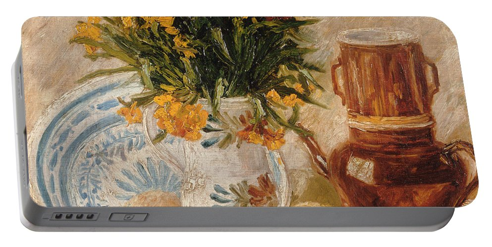 1887 Portable Battery Charger featuring the painting Still Life by Vincent van Gogh