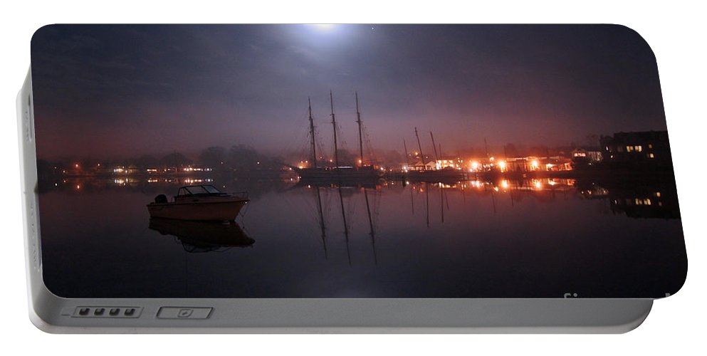 Boat Portable Battery Charger featuring the photograph Still Of The Night by Joe Geraci