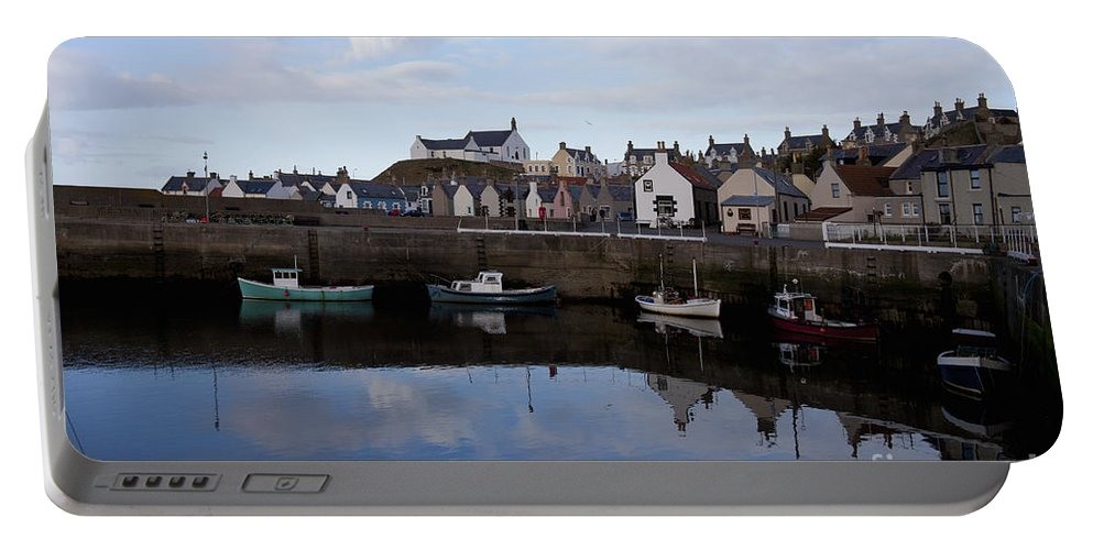 Architecture Portable Battery Charger featuring the photograph Still Waters by Diane Macdonald