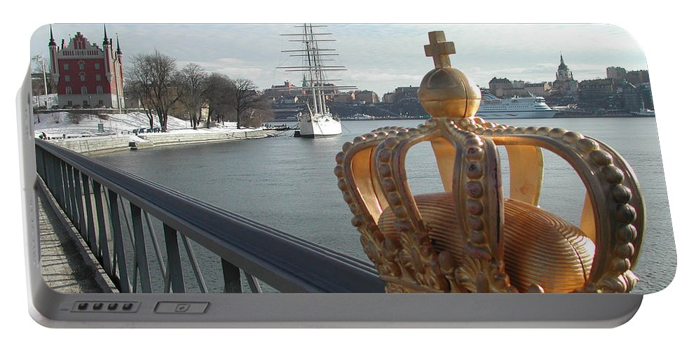 Stockholm Portable Battery Charger featuring the photograph Stockholm by Mats Silvan
