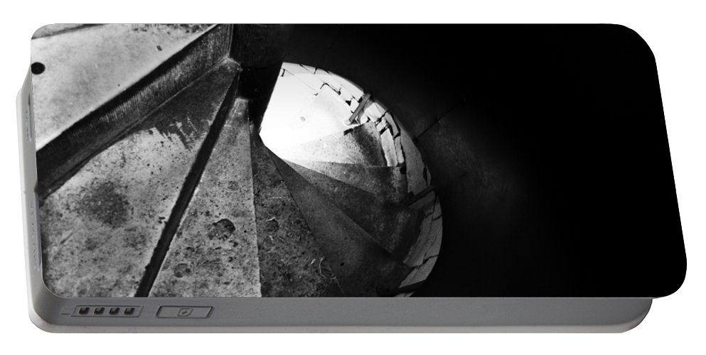 Britain Portable Battery Charger featuring the photograph Stone Spiral Staircase by Christi Kraft