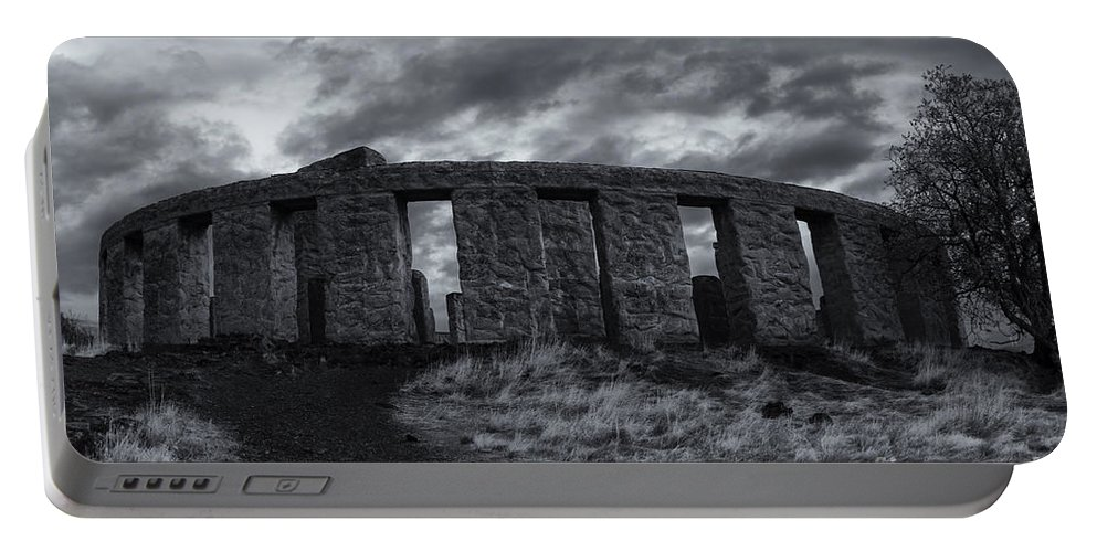 Stonehenge Portable Battery Charger featuring the photograph Stonehenge Of America by Mike Dawson