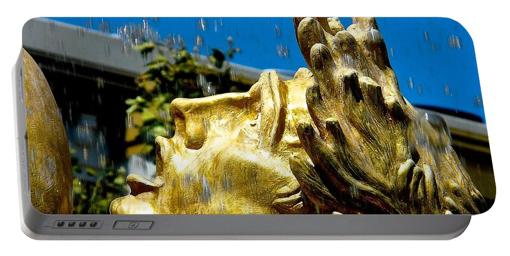 Statue Portable Battery Charger featuring the photograph Grateful by Jacqueline Howe