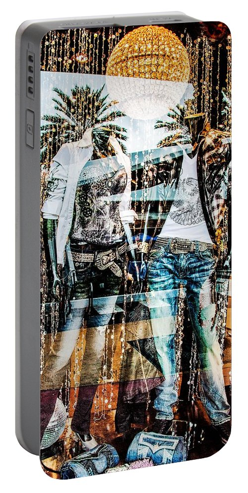 Store Portable Battery Charger featuring the photograph Store Window Display by Rudy Umans