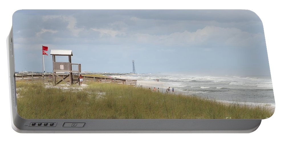 Ft.walton Beach Portable Battery Charger featuring the photograph Storm Andrea by Michelle Powell