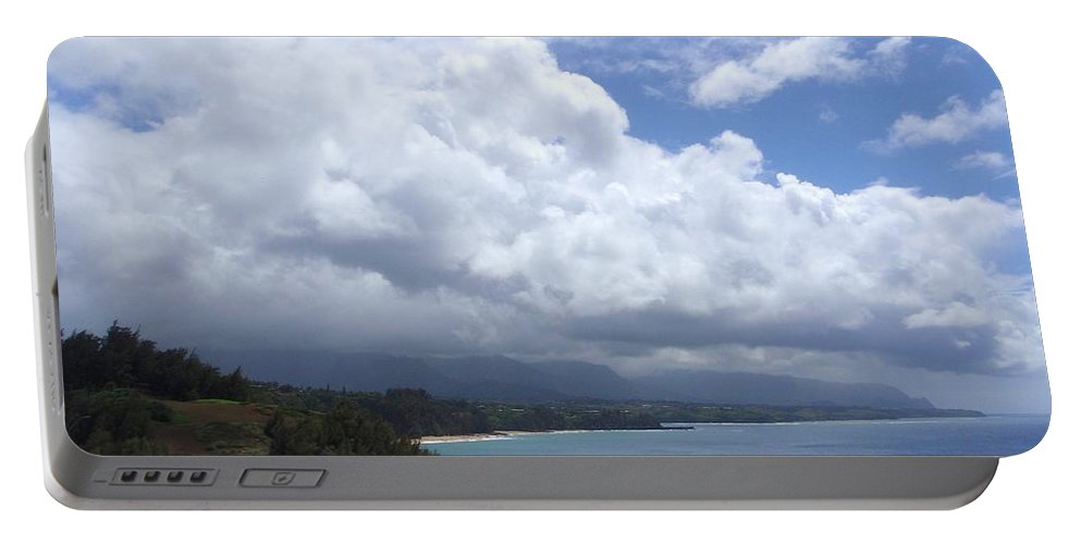Bali Hai Portable Battery Charger featuring the photograph Storm Over Bali Hai by Mary Deal