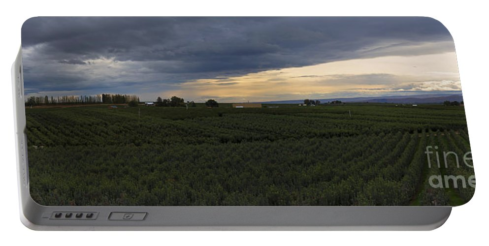 Orchard Portable Battery Charger featuring the photograph Storm Over The Yakima Valley by Mike Dawson