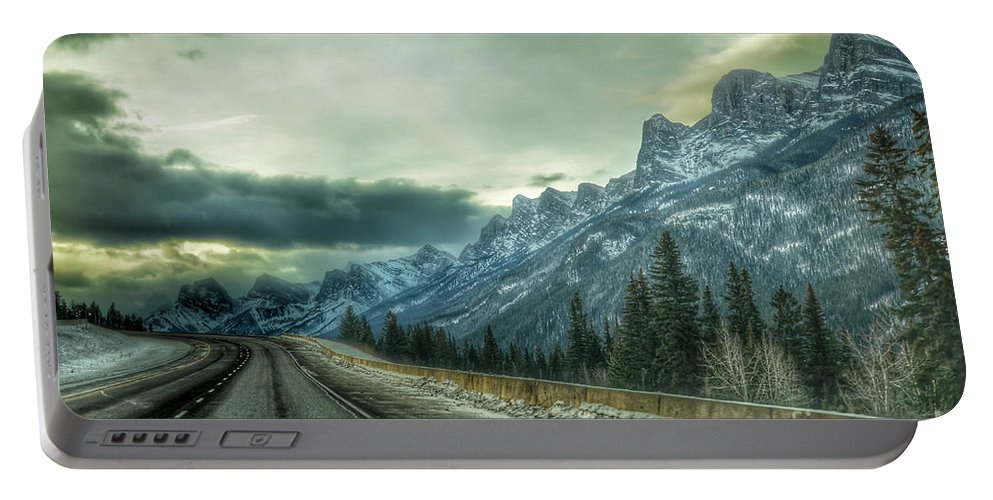 Landscape Portable Battery Charger featuring the photograph Stormy by D White