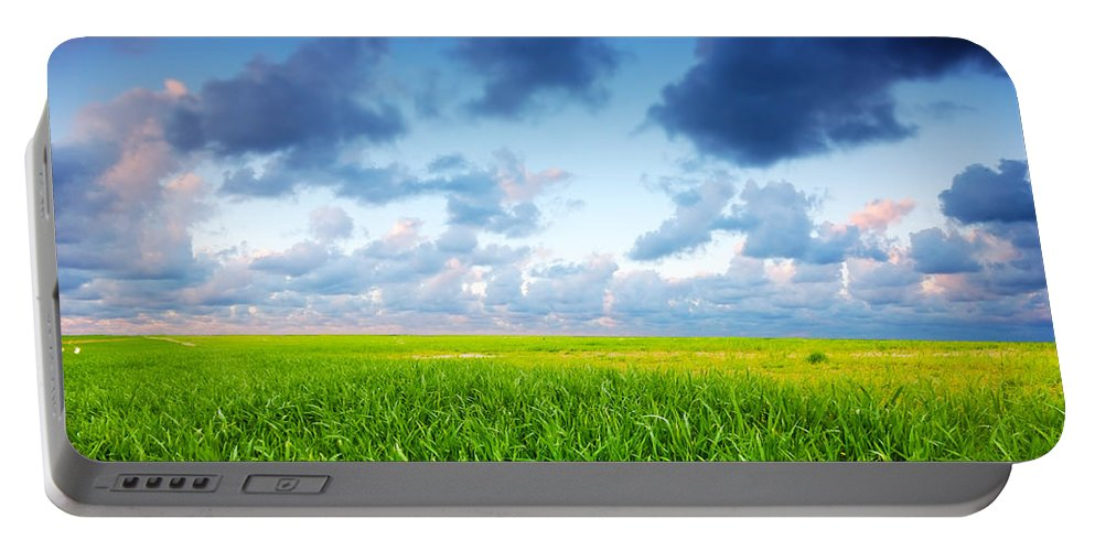 Agriculture Portable Battery Charger featuring the photograph Stormy Summer Landscape by Michal Bednarek