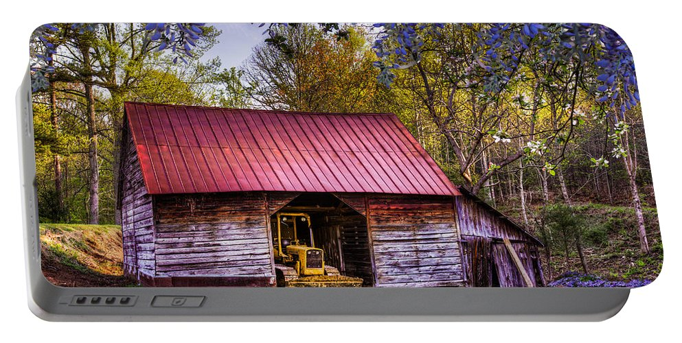 Appalachia Portable Battery Charger featuring the photograph Storybook Farms by Debra and Dave Vanderlaan