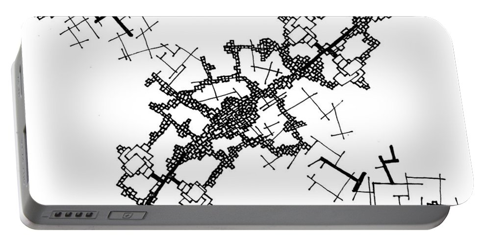 Abstract Portable Battery Charger featuring the drawing Strain by Daniel Rustad