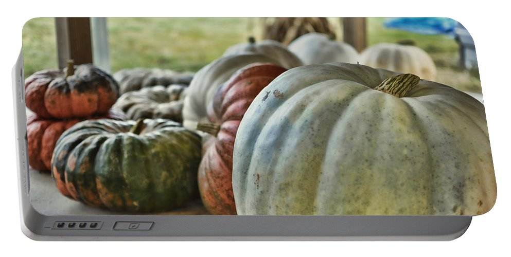 Nature Portable Battery Charger featuring the photograph Strange Pumpkins by Paulette B Wright