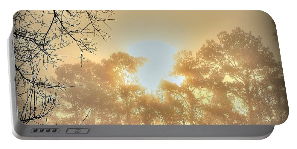 Sunrise Portable Battery Charger featuring the photograph Strangely Dim by Charlotte Schafer