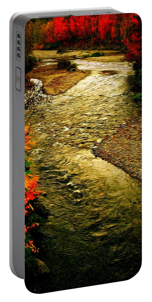 Fall Portable Battery Charger featuring the photograph Stream by Bill Howard