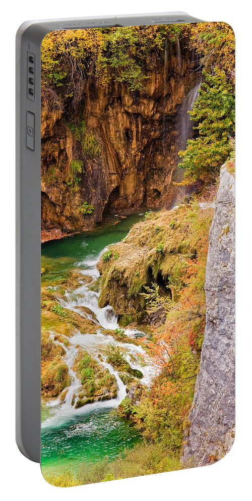 Clear Portable Battery Charger featuring the photograph Stream In The Mountains by Artur Bogacki