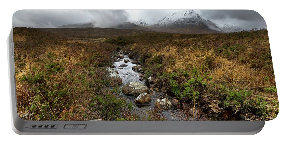 Rannoch Moor Portable Battery Charger featuring the photograph Stream On Rannoch Moor by Gary Eason