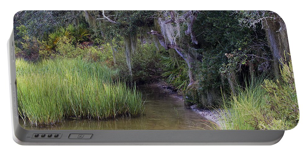 Scenery Portable Battery Charger featuring the photograph Stream To The Past by Kenneth Albin