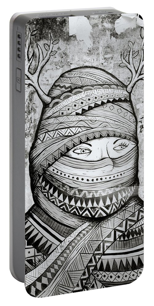 Graffiti Portable Battery Charger featuring the photograph Mysterious Cochin by Shaun Higson