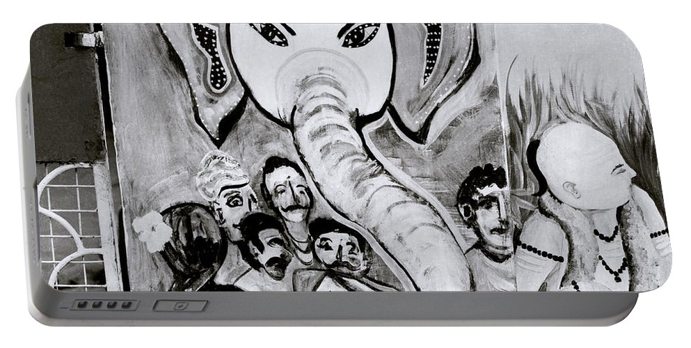 Elephant Portable Battery Charger featuring the photograph Urban Ganesh by Shaun Higson