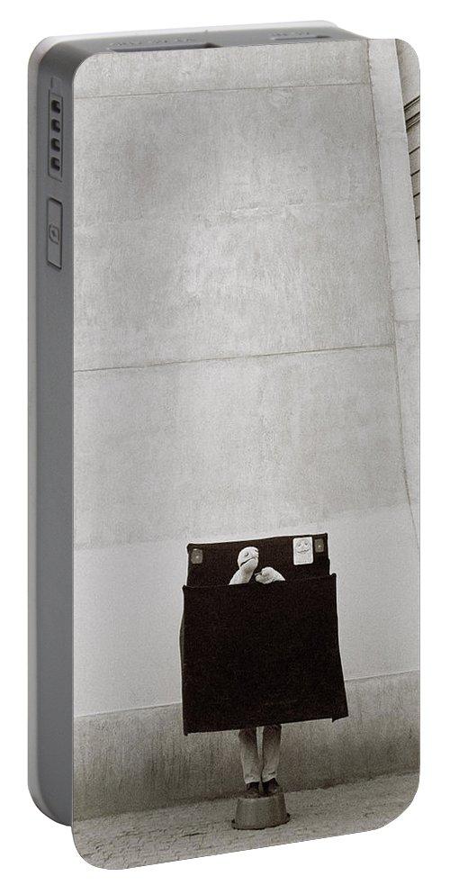 Paris Portable Battery Charger featuring the photograph Paris Surrealism by Shaun Higson