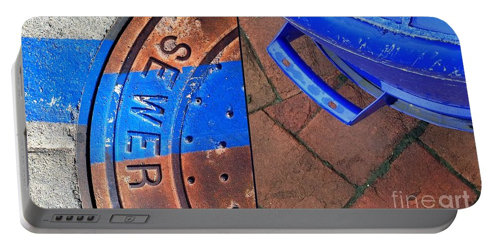 Street Photography Portable Battery Charger featuring the photograph Street Cleaning by Marlene Burns