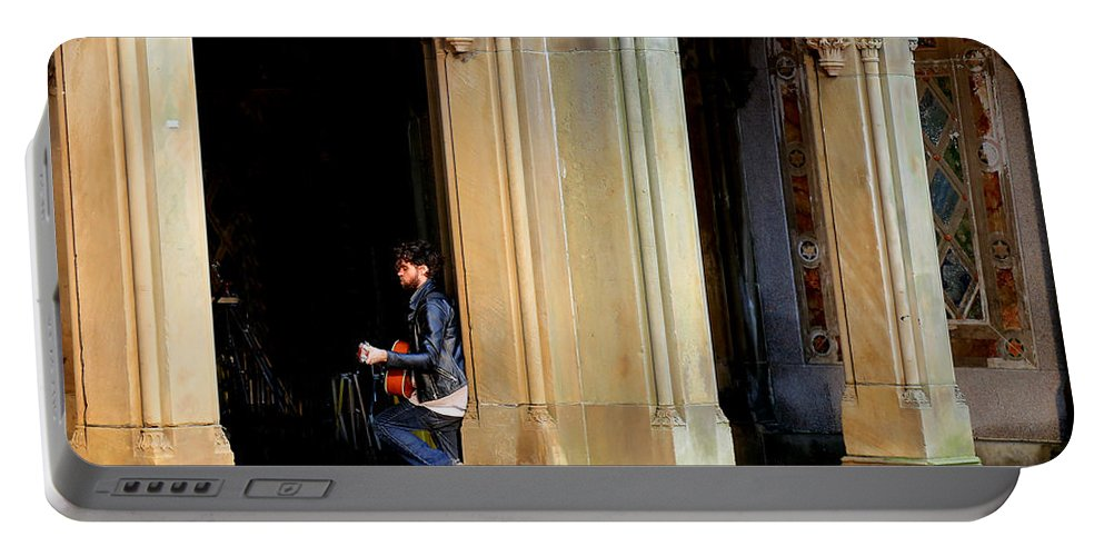 Street Musician Portable Battery Charger featuring the photograph Street Musician 4 by Andrew Fare