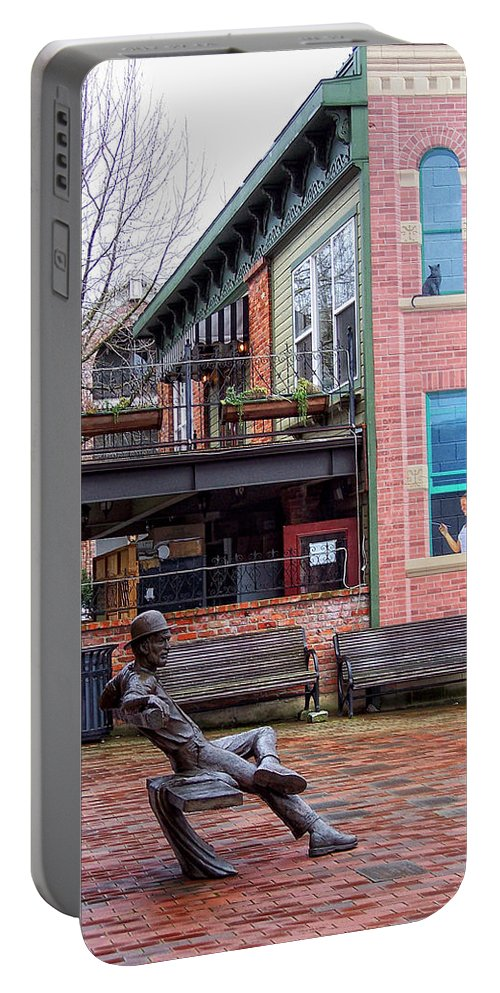 Street Portable Battery Charger featuring the photograph Street Scene by Donna Blackhall