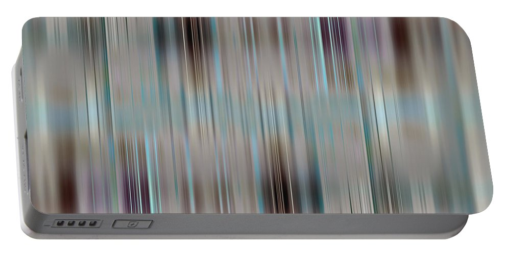 Abstract Portable Battery Charger featuring the digital art Stripes by Steve Ball