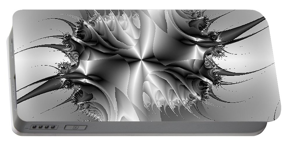 Abstract Portable Battery Charger featuring the digital art Strut by Dana Haynes