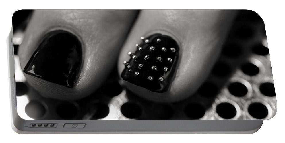 Nail Portable Battery Charger featuring the photograph Studded by Ari Salmela