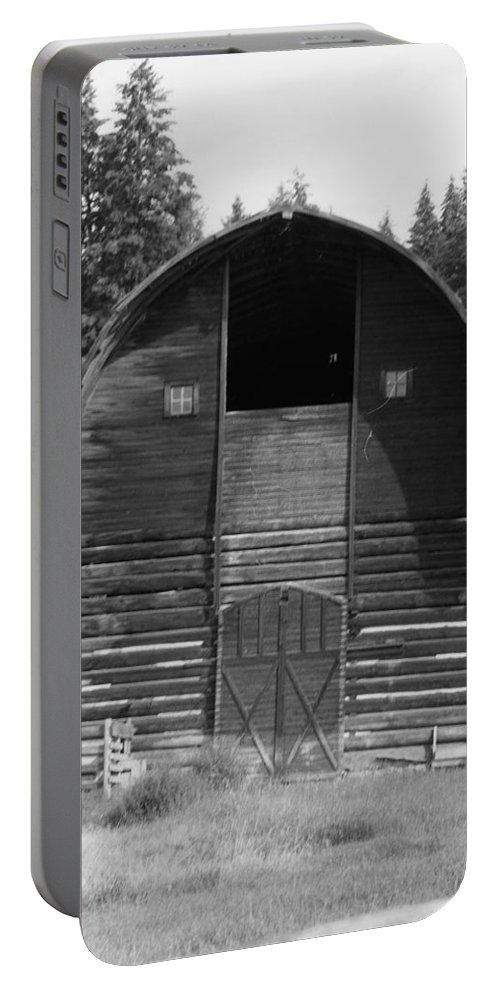 Old Barn Portable Battery Charger featuring the photograph Sturdy Old Barn by Mike Wheeler