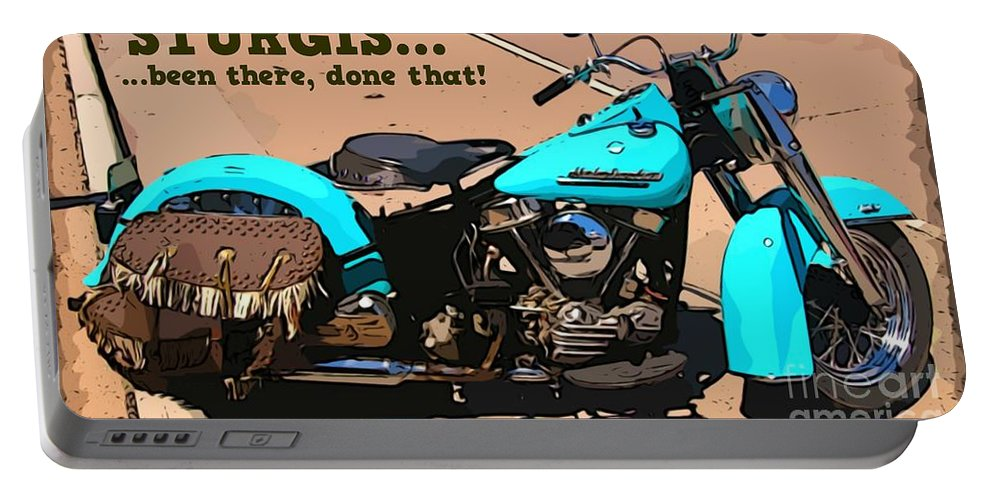 Turquoise Beauty Portable Battery Charger featuring the photograph Sturgis Motorcycle Rally by John Malone