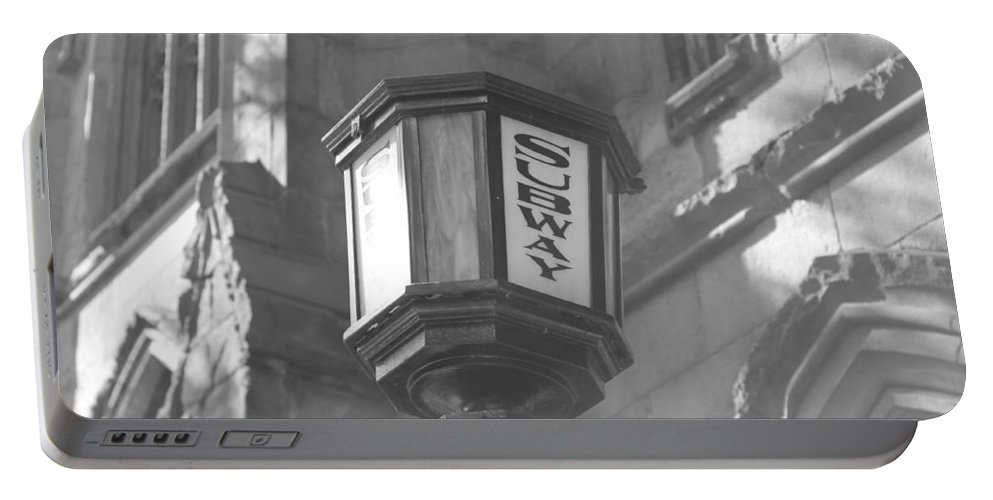 Subway Station Portable Battery Charger featuring the photograph Subway Light by Catie Canetti