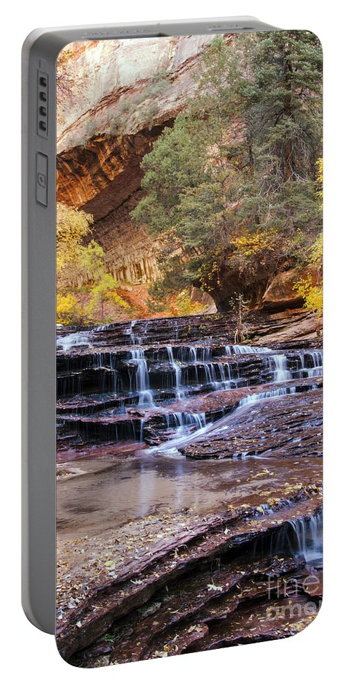 The Subway Portable Battery Charger featuring the photograph Subway Trail by Bob Phillips