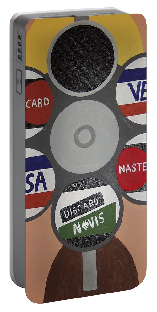 Painting Portable Battery Charger featuring the painting Suicide Solution by Dean Stephens