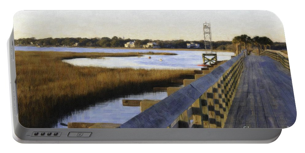 Old Pitt Street Bridge Portable Battery Charger featuring the photograph Sullivan's Island To Old Village by Dale Powell