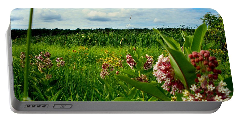Flower Portable Battery Charger featuring the photograph Summer Breeze by Zafer Gurel