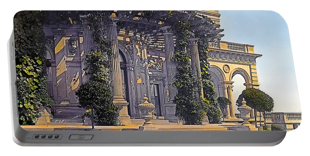 Tranquil Portable Battery Charger featuring the painting Summer Evening by Terry Reynoldson