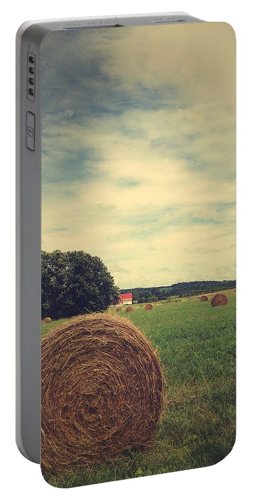 Rustic Portable Battery Charger featuring the photograph Summer Field Of Dreams by Olivia StClaire