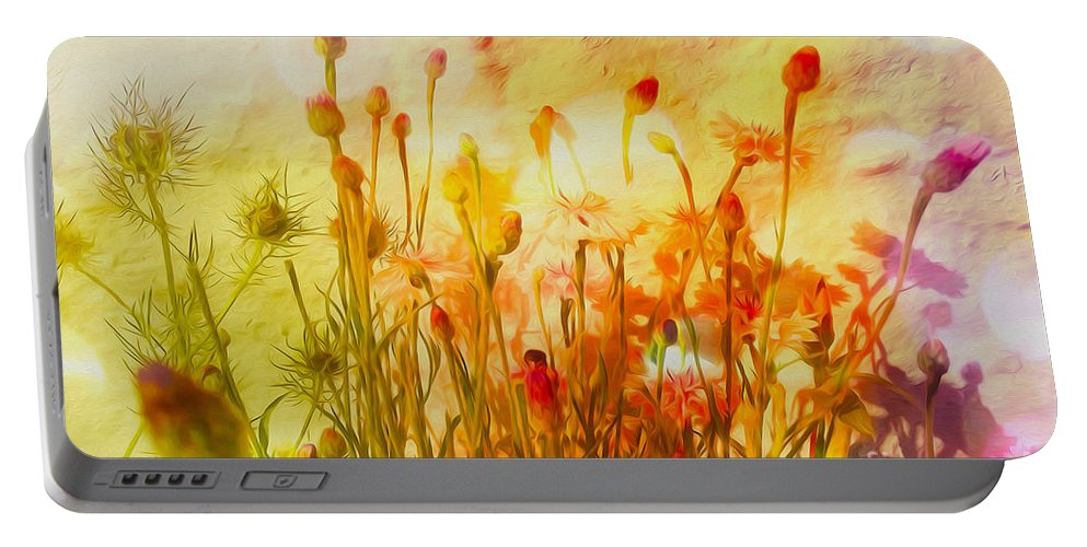 Summer Flowers Portable Battery Charger featuring the photograph Summer Flowers by P Donovan