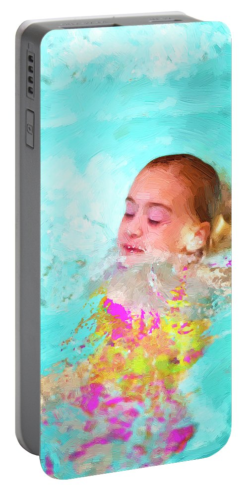Swim Portable Battery Charger featuring the photograph Summer Fun by Angela Stanton