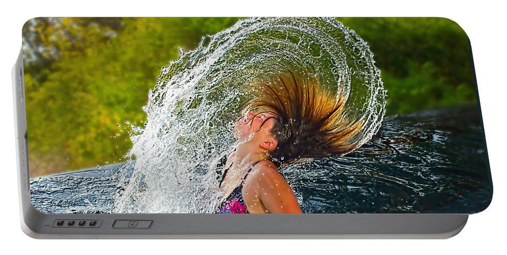 Photography Portable Battery Charger featuring the photograph Summer Fun by Kaye Menner