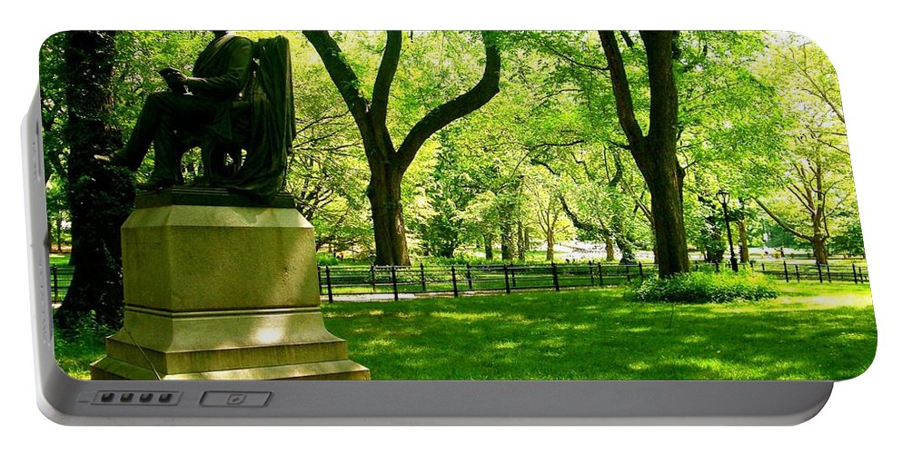 Central Park Prints Portable Battery Charger featuring the photograph Summer In Central Park Manhattan by Monique's Fine Art