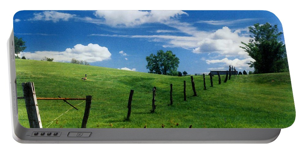 Summer Landscape Portable Battery Charger featuring the photograph Summer Landscape by Steve Karol