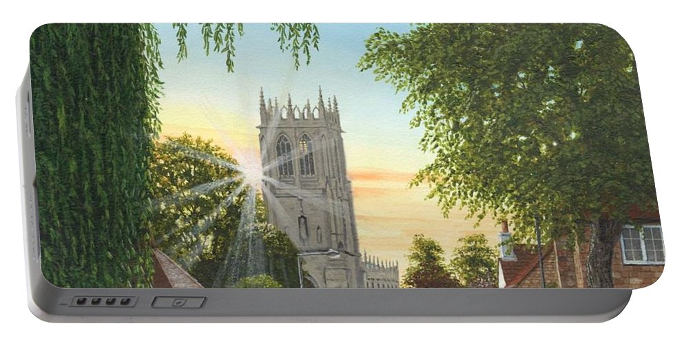 Landscape Portable Battery Charger featuring the painting Summer Morning St. Mary by Richard Harpum