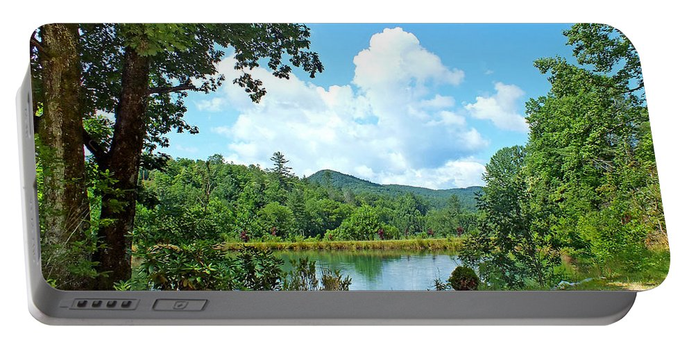 Duane Mccullough Portable Battery Charger featuring the photograph Summer Mountain Pond 2 by Duane McCullough