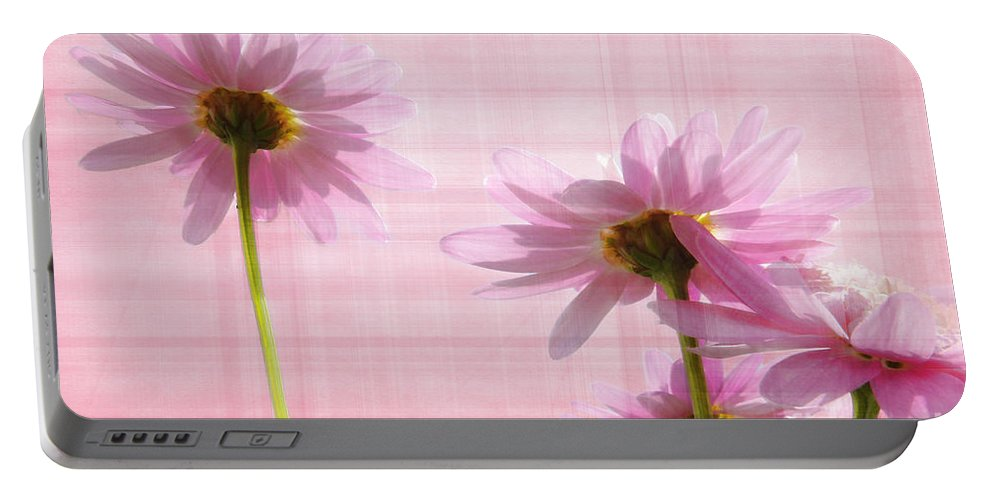Peek-swint Portable Battery Charger featuring the photograph Summer Pinks by Susie Peek