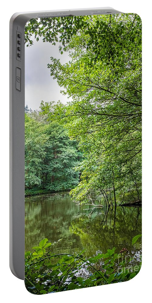 Cannock Chase Portable Battery Charger featuring the photograph Summer Pool Cannock Chase by Ann Garrett